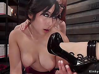 Oriental lesbo anal lesbo groupfucked