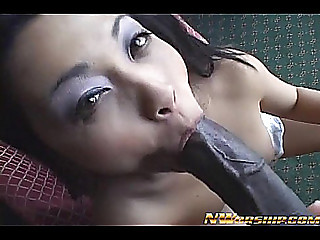 hot oriental playgirl going avid for dark cock in her snatch