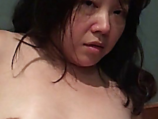 Nutty oriental wife with banana
