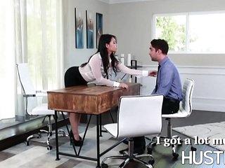 Boss Asian Cindy Starfall eating cum after fucking