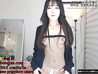 Korean hawt camgirl in fishnet hose